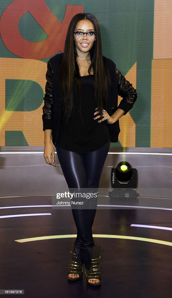 Angela Simmons visits BET's '106 & Park' at BET Studios on February 11, 2013 in New York City.