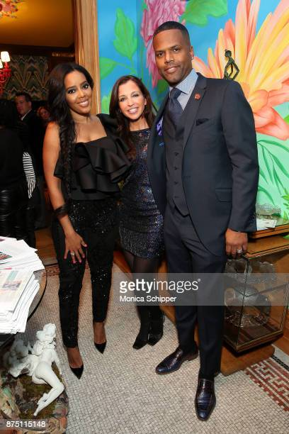 Angela Simmons Wendy Diamond and A J Calloway attend the 2017 Women's Entrepreneurship Day VIP Honoree Speaker Dinner Reception on November 16 2017...