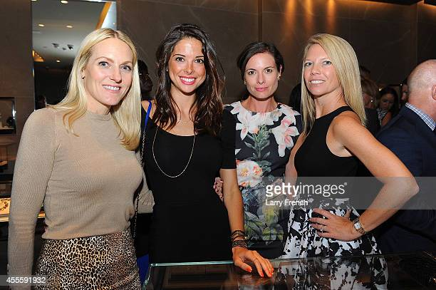 Angela Sitilides Hillary Curtin Stephanie Abraham and Jeniffer Adeii attend an In Store Event hosted by David Yurman With Capitol File To Celebrate...