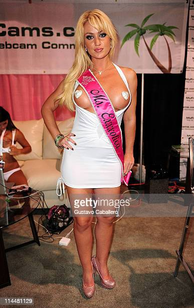 Angela Sommers attends EXXXOTICA Miami Beach at the Miami Beach Convention Center on May 20 2011 in Miami Beach Florida