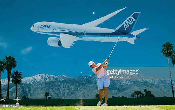 Angela Stanford hits the ball off of the 8th tee in the ANA Inspiration Round Three at Mission Hills Country Club on April 4 2015 in Rancho Mirage...