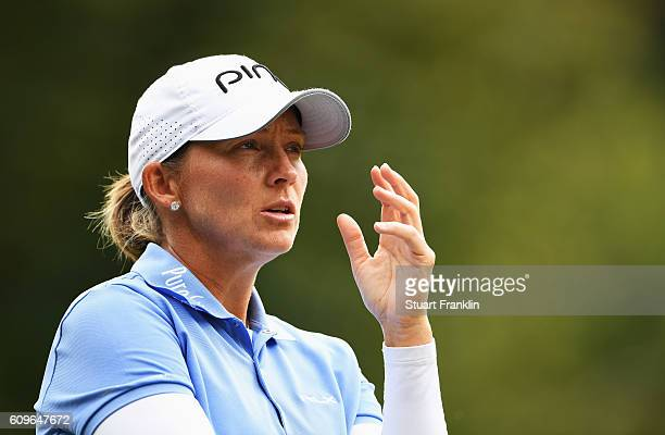 Angela Stanford of USA in action during the third round of The Evian Championship on September 17 2016 in EvianlesBains France