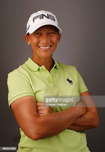 Angela Stanford poses for a portrait ahead of the LPGA Founders Cup at Wildfire Golf Club on March 18 2015 in Phoenix Arizona