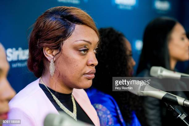 """Angela Stanton discusses """"From The Bottom Up"""" during the SiriusXM Urban View """"From The Bottom Up"""" panel discussion at SiriusXM Studios on March 1,..."""