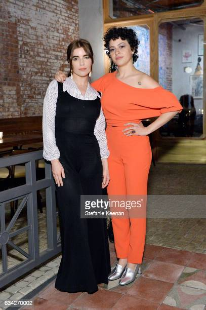 Angela Trimbur and Alia Shawkat attend Rachel Comey Fall Winter 2017 Collection Presentation on February 7 2017 in Los Angeles California