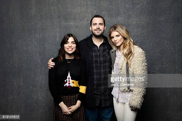 Angela Trimbur Ricky Bates Jr and AnnaLynne McCord from the film 'Trash Fire' pose for a portrait at the 2016 Sundance Film Festival on January 23...