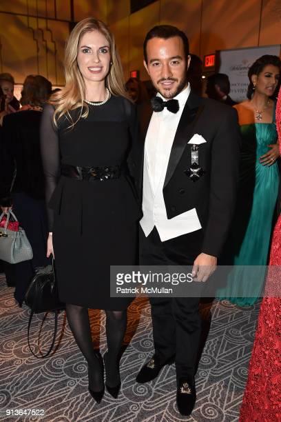 Angela Trostle and Emir Bahadir attend the 63rd Viennese Opera Ball at The Ziegfeld Ballroom on February 2 2018 in New York City
