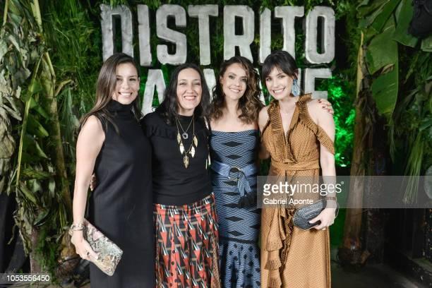 Angela Vergara Alina Lozano Cristina Umana and Marcela Mar pose during Netflix Distrito Salvaje Premiere after party on October 10 2018 in Bogota...