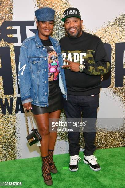 Angela Walls and Bun B arrive at the BET Hip Hop Awards 2018 at Fillmore Miami Beach on October 6 2018 in Miami Beach Florida