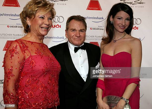 Angela Wepper Fritz Wepper and their daughter Sophie attend the 35th German Film Ball at the Bayerischer Hof on January 19 2008 in Munich Germany