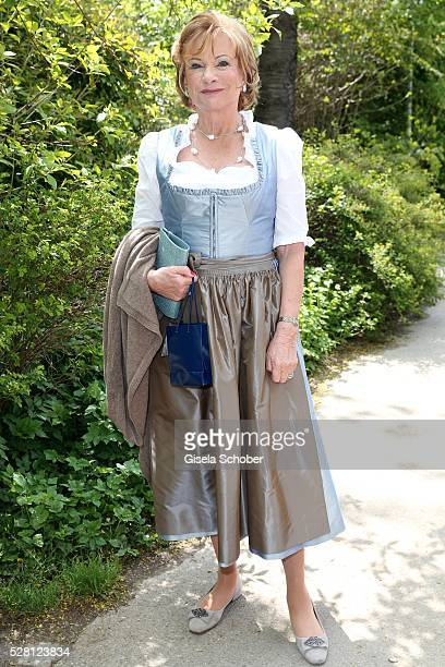Angela Wepper mother of Sophie Wepper during the wedding of Sophie Wepper and David Meister at 'Seehaus' on May 4 2016 in Munich Germany