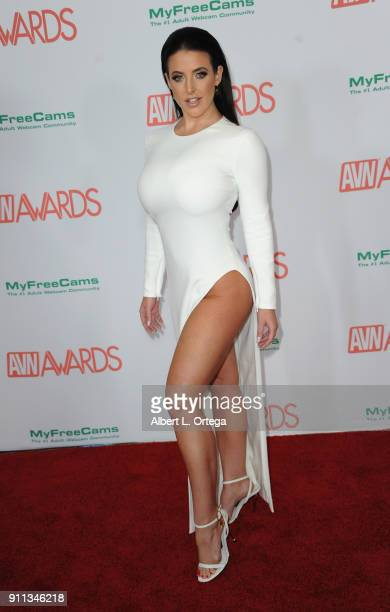 Angela White attends the 2018 Adult Video News Awards held at Hard Rock Hotel Casino on January 27 2018 in Las Vegas Nevada