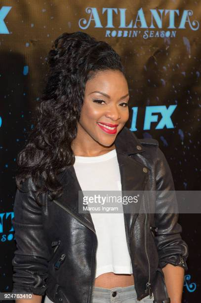 Angela Wildflower attends the 'Atlanta Robbin' Season' Atlanta premiere at Starlight Six Drive on February 26 2018 in Atlanta Georgia