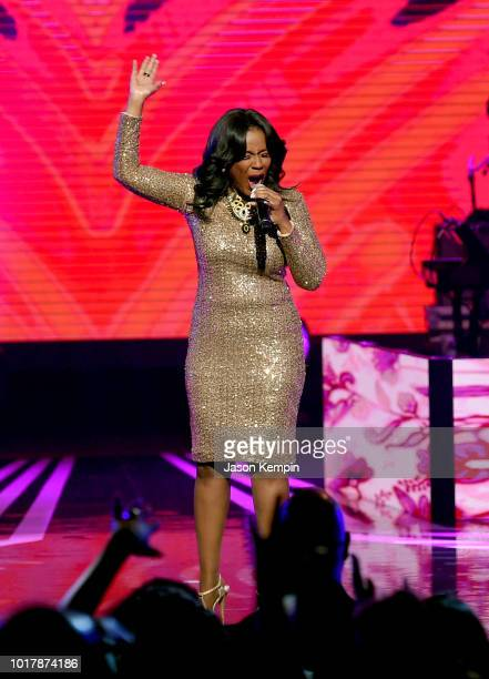 Angela Winbush performs onstage during the 2018 Black Music Honors at Tennessee Performing Arts Center on August 16 2018 in Nashville Tennessee
