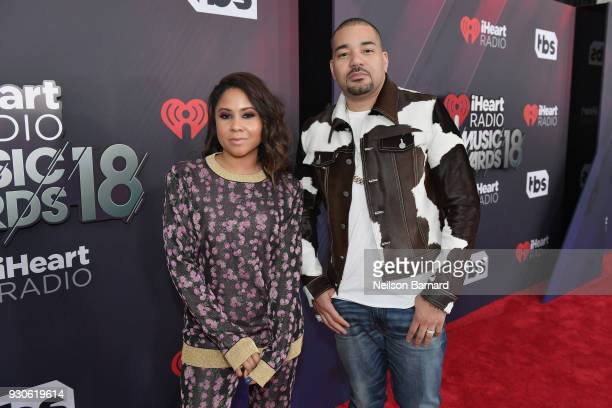 Angela Yee and DJ Envy attend the 2018 iHeartRadio Music Awards which broadcasted live on TBS TNT and truTV at The Forum on March 11 2018 in...