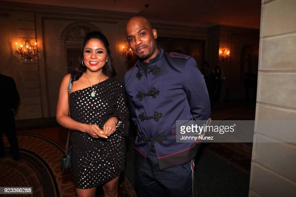 Angela Yee and Harry O attend the 2018 AFUWI Gala at The Pierre Hotel on February 22 2018 in New York City