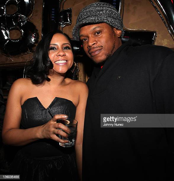 Angela Yee and Sway attend Angela Yee's birthday party at The Actor's Playhouse on January 7 2011 in New York City