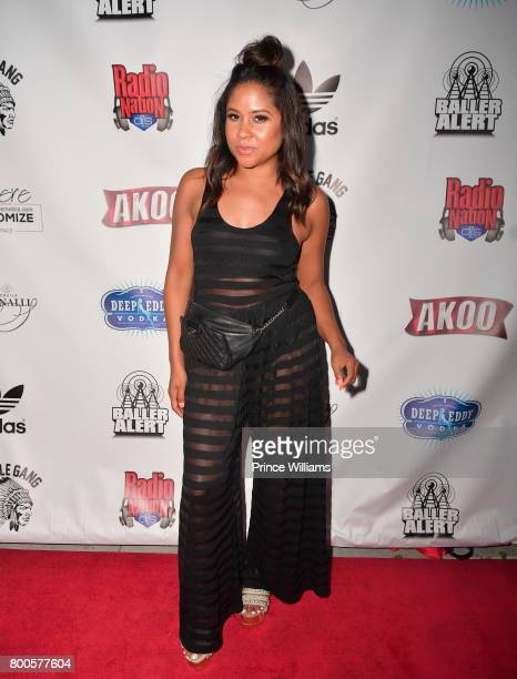 Angela Yee attends Baller Alert Rooftop Day Party on June 23 2017 in Los Angeles California