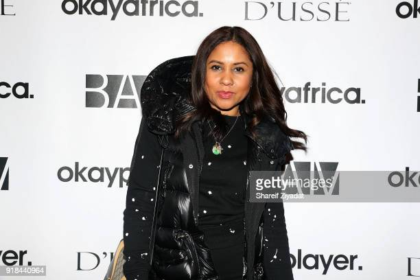 Angela Yee attends 'Black Panther' Brooklyn Screening at BAM on February 14 2018 in New York City
