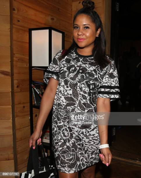 Angela Yee attends DJ Khaled 'Grateful' private listening event at Premier Studios on June 14 2017 in New York City