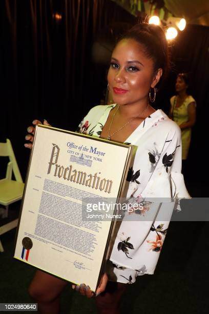 Angela Yee attends the West Indian American/Caribbean American Heritage Reception at Gracie Mansion on August 28, 2018 in New York City.