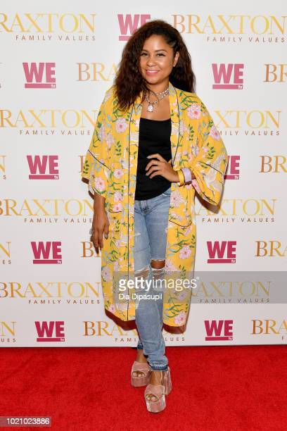 Angela Yee attends WE tv and Traci Braxton celebrate the new season of Braxton Family Values at The Skylark on August 21 2018 in New York City