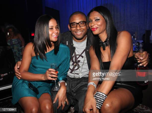 Angela Yee Maino and Jennifer Williams attend TI's welcome home party at ESSO on October 1 2011 in Atlanta Georgia