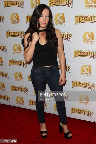 Angela Your Magesty Magana arrives at Kate del Castillo's announcement of her landmark deal with global MMA brand Combate Americas at LA River...