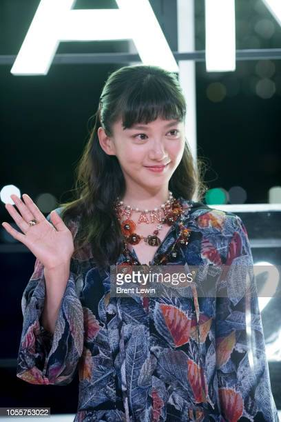 Angela Yuen attends the Chanel Cruise 2018/19 Replica Show at Sermsuk Warehouse Pepsi Pier on October 31 2018 in Bangkok Thailand
