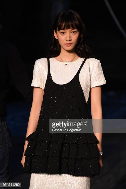 Angela Yuen attends the Chanel Cruise 2018/2019 Collection at Le Grand Palais on May 3 2018 in Paris France