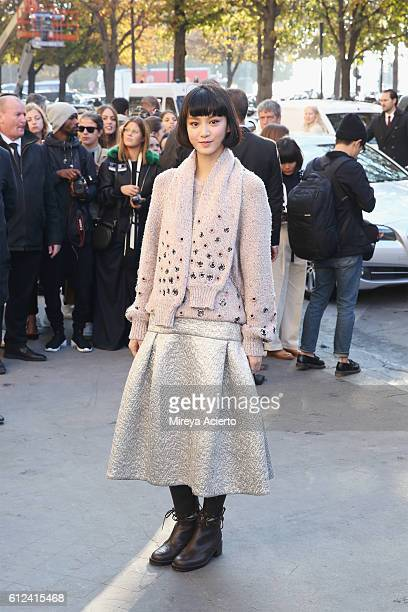 Angela Yuen attends the Chanel show as part of the Paris Fashion Week Womenswear Spring/Summer 2017 on October 4 2016 in Paris France