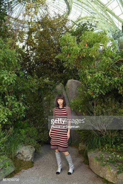 Angela Yuen attends the Chanel show as part of the Paris Fashion Week Womenswear Spring/Summer 2018 on October 3 2017 in Paris France