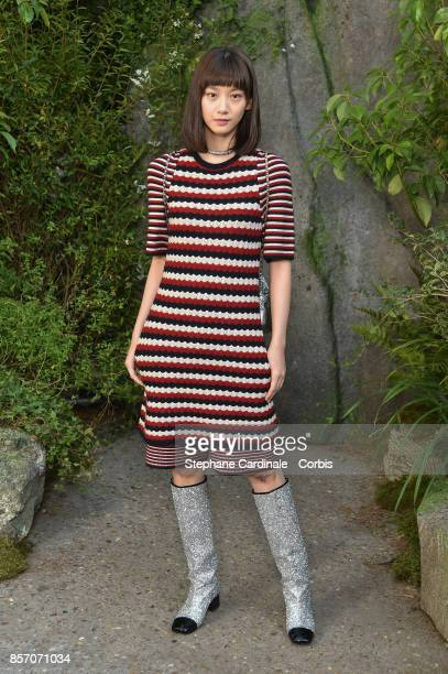 Angela Yuen attends the Chanel show as part of the Paris Fashion Week Womenswear Spring/Summer 2018 at on October 3 2017 in Paris France