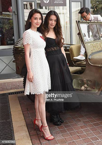 Angelababy and Shu Qi attend a photocall and Press Conference for 'The Ghouls' during the 68th annual Cannes Film Festival on May 14 2015 in Cannes...