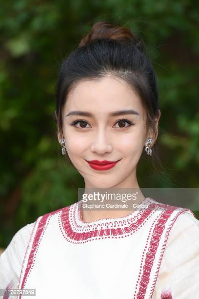 Angelababy attends the Christian Dior Womenswear Spring/Summer 2020 show as part of Paris Fashion Week on September 24 2019 in Paris France