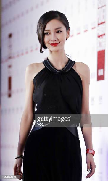 Angelababy attends the The Beijing News Fashion Power event on November 6 2012 in Beijing China