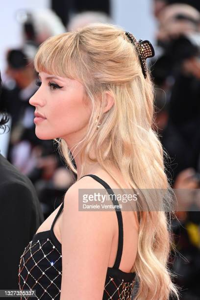 """Angele attends the """"Annette"""" screening and opening ceremony during the 74th annual Cannes Film Festival on July 06, 2021 in Cannes, France."""