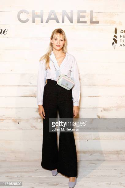 Angele attends the Chanel And Madame Figaro Dinner In Honor Of The 45th Anniversary Of The Festival Of American Cinema on September 13 2019 in...