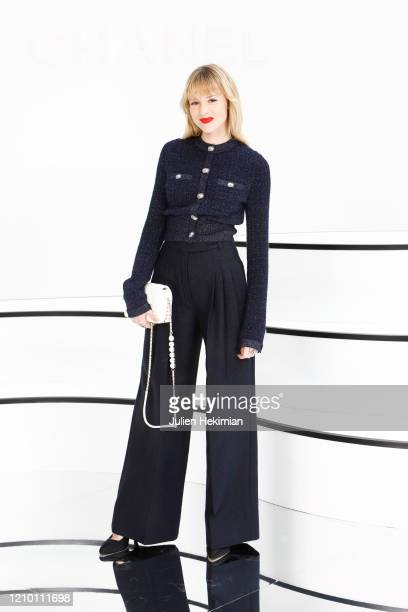 Angele attends the Chanel show as part of the Paris Fashion Week Womenswear Fall/Winter 2020/2021 on March 03 2020 in Paris France