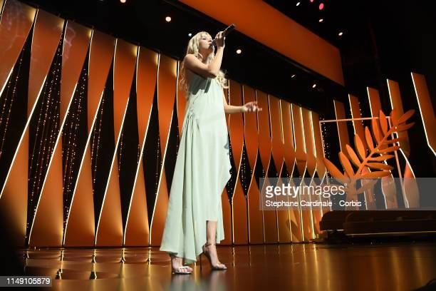 Angele attends the Opening Ceremony during the 72nd annual Cannes Film Festival on May 14 2019 in Cannes France