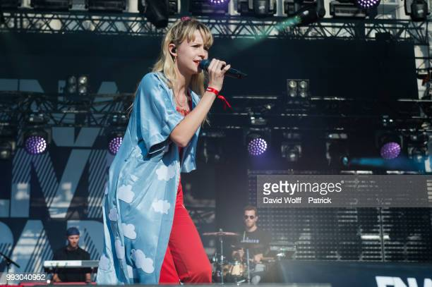 Angele performs at Fnac Live on July 6 2018 in Paris France