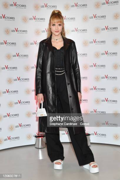 Angele Van Laeken aka Angele attends the 35th 'Les Victoires De La Musique' photocall At La Seine Musicale on February 14 2020 in BoulogneBillancourt...