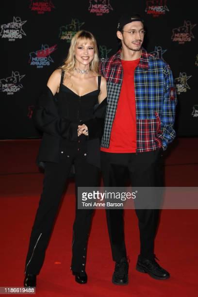 Angele Van Laeken and Romeo Elvis attend the 21st NRJ Music Awards At Palais des Festivals on November 09 2019 in Cannes France