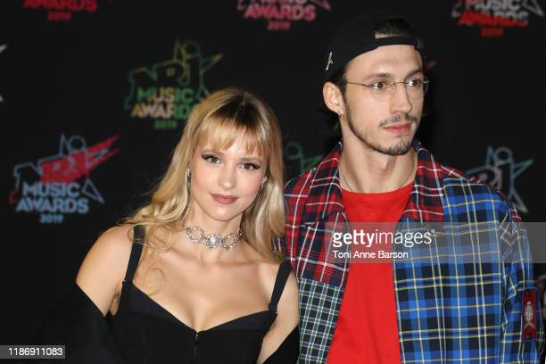 Angele Van Laeken and Romeo Elvis attend the 21st NRJ Music Awards At Palais des Festivals on November 09 2019 in Cannes France