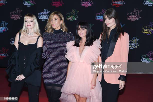 Angele Van Laeken Vitaa Jenifer Bartoli and Clara Luciani attend the 21st NRJ Music Awards At Palais des Festivals on November 09 2019 in Cannes...