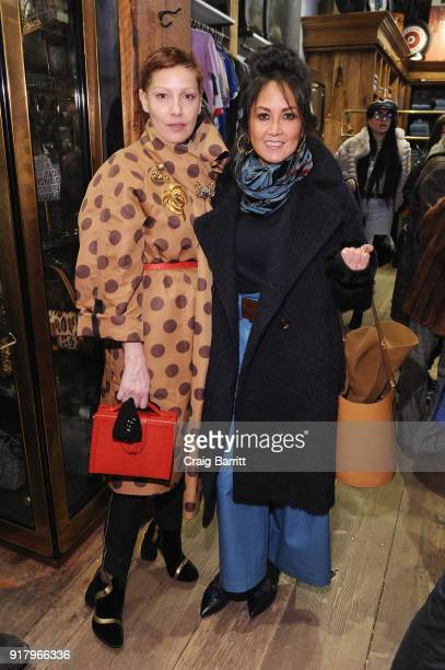 Angeles Almuna and Jenifer Reck and attend Vintage For The Future A Norma Kamali Retrospective by What Goes Around Comes Around on February 13 2018...