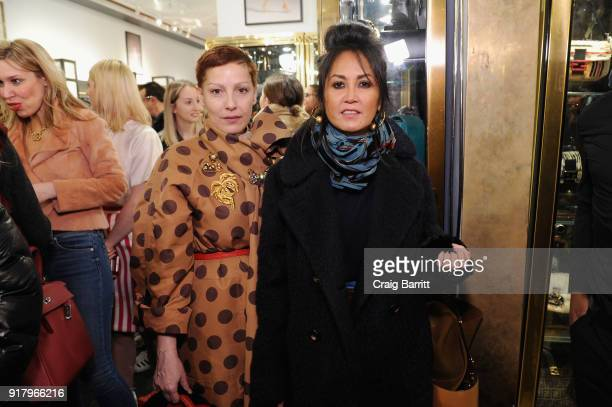Angeles Almuna attends Vintage For The Future A Norma Kamali Retrospective by What Goes Around Comes Around on February 13 2018 in New York City
