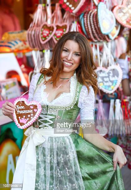 Polish model Agata Giermasinska during the Oktoberfest 2018 at Theresienwiese on September 22 2018 in Munich Germany