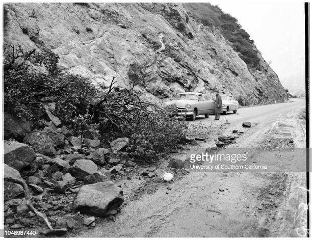 Angeles Crest Highway storm picture 13 January 1952 Jimmy Dryden 10 years Marjorie Wetzler Fred Tyler Lou GregoryChuck WoodfinAngeles Crest Highway...