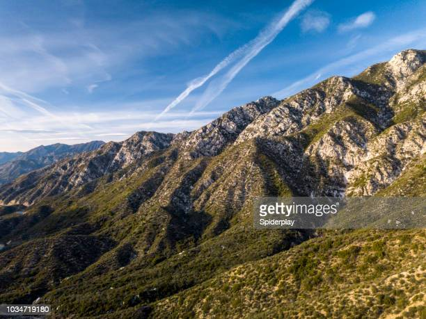 Angeles Crest Mountains in California- Aerial Drone Shot